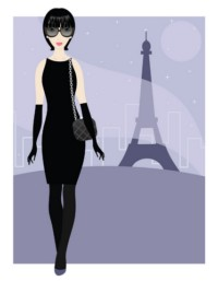 slim French woman inParis
